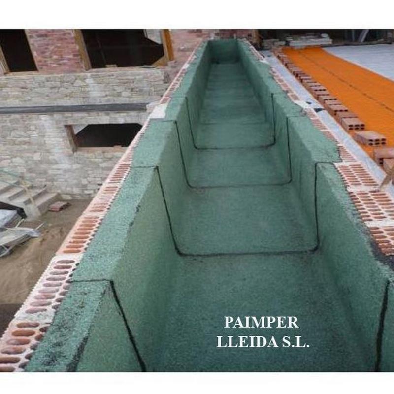 Impermeabilización de cubiertas ajardinadas o jardineras: Catálogo de productos de Paimper Lleida, S.L.