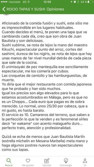 Donde comer Sushi en Malaga