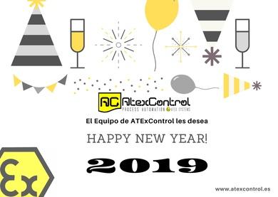 Postal Año nuevo 2019