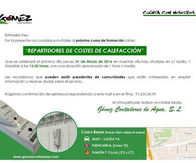 CURSO DE FORMACION DE REPARTIDORES DE COSTES DE CALEFACCIÓN