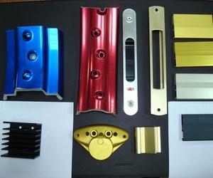 Diferentes acabados en todo tipo de piezas de aluminio