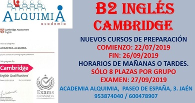 B2 INGLES CAMBRIDGE (EXAMEN 27/09/2019)