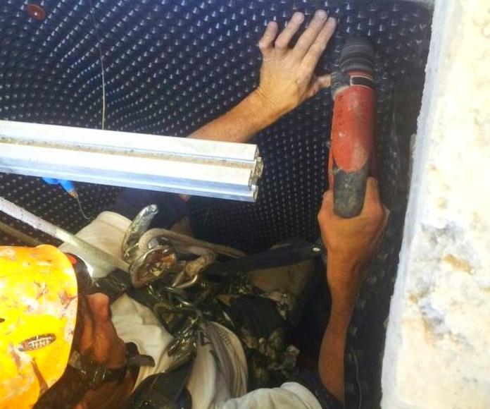 Fijaciones mecánicas en hormigón