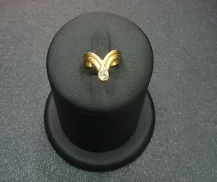 Anillo oro con diamantes