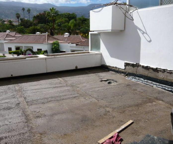 Reforma de vivienda, impermeabilización y atezado para colocación de pavimento en vivienda Santa Cruz de Tenerife