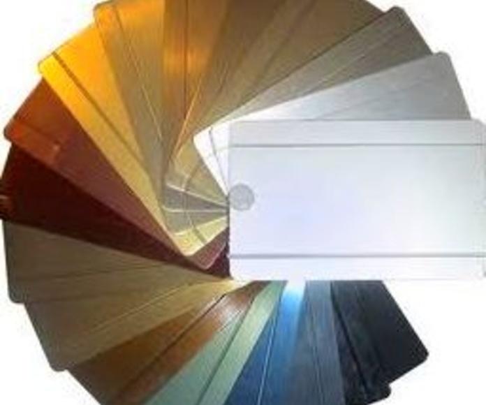Aluminio anodizados estándares