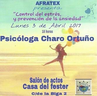 """Charla """"Control del estrés y Prevención de la ansiedad"""""""