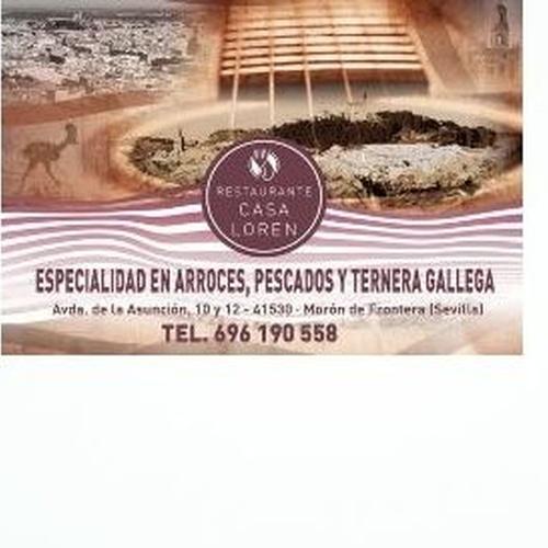 Restaurante en Morón especializado en arroces, pescados y ternera gallega