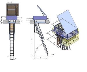 Escalera automática para terraza en Vizcaya