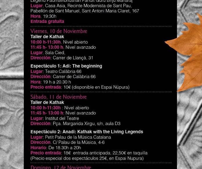 Hemantika: Festival de Danza Kathak en Barcelona con Padmavibhushan Guru Birju Maharaj