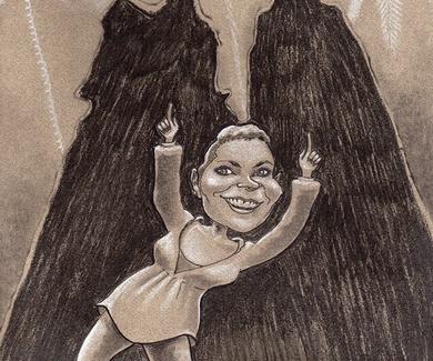 Caricatura para una alemana