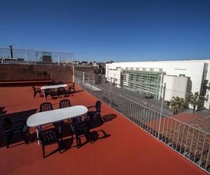 Terraza de la residencia de estudiantes en Barcelona