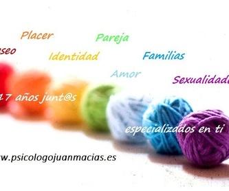 Terapeuta sex-positive Madrid Centro: Nuestros servicios de Psicólogo Juan Macías