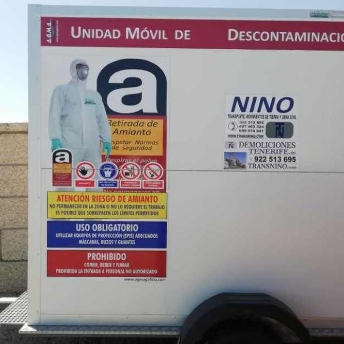 Precauciones en la retirada de amianto