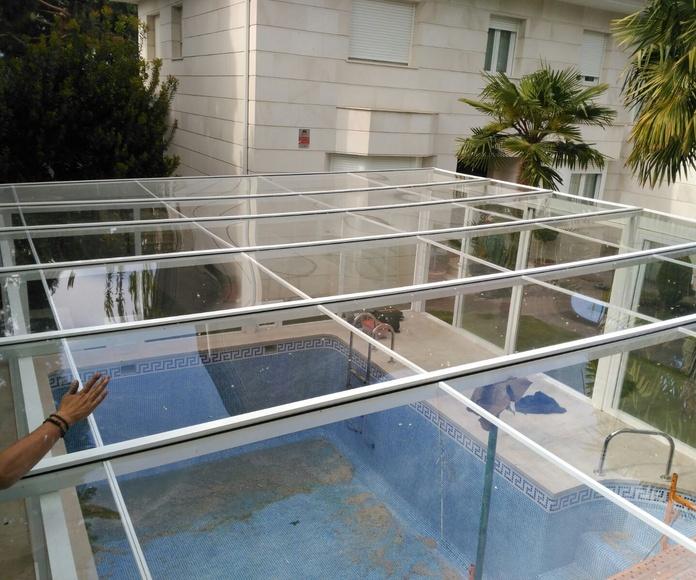 Cerramientos exteriores y arreglos piscinas: Trabajos de Karpex