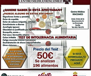 NUTRICIÓN. TEST DE INTOLERANCIA ALIMENTARIA