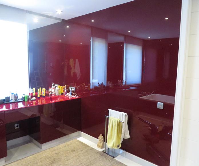 Vidrio pintado baño Madrid, Cristalería Madrileña