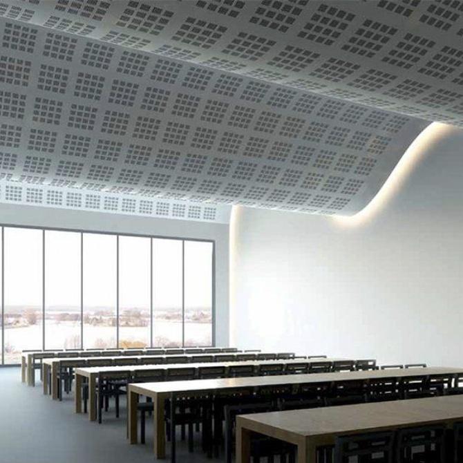 La iluminación indirecta y el falso techo