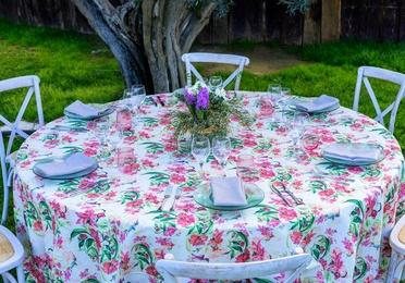 Mantel Redondo Estampado flores