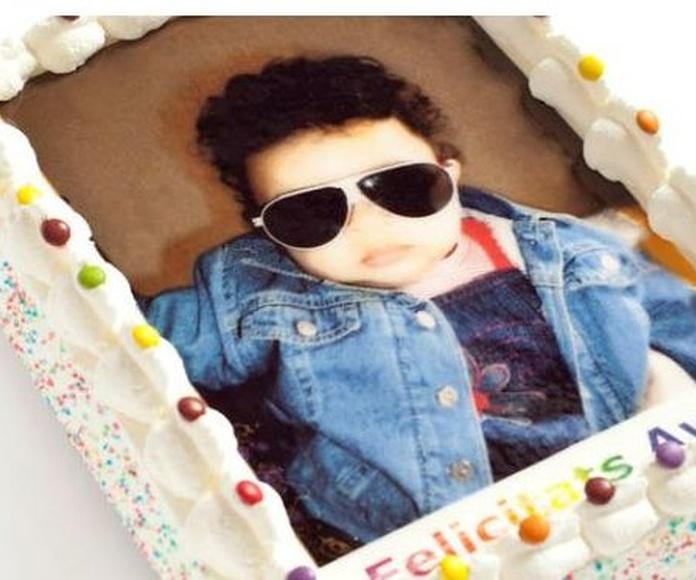 Pastel foto niño