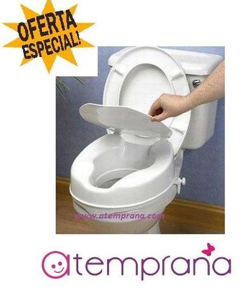Elevador de WC con tapa 10 cm