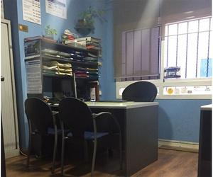 Oficinas del taller de chapa y pintura en Leganés