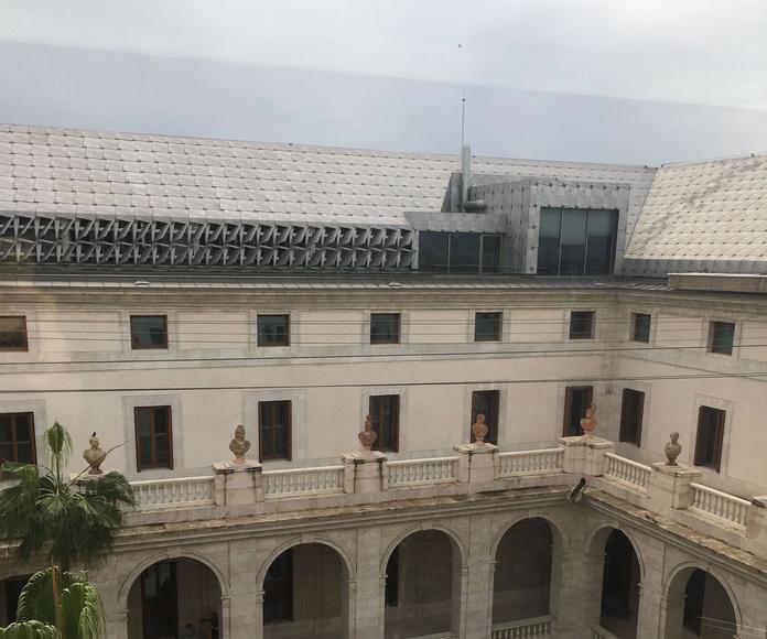 Vista del Museo de Málaga. Palacio de la Aduana.