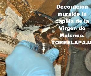 Decoración mural de la capilla de la Virgen de Malanca en Torrelapaja