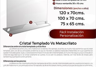 Ventanilla cristal templado 5 mm