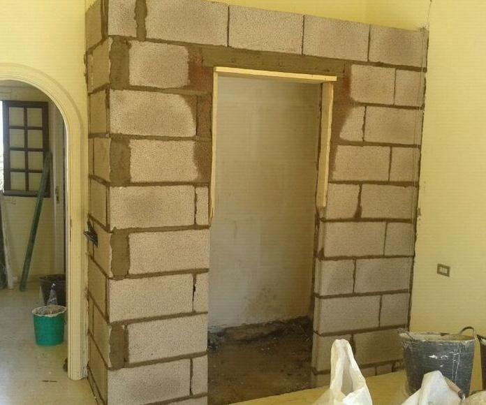 Levantamiento de muro para creación de nuevo cuarto de baño en vivienda Santa Cruz de Tenerife