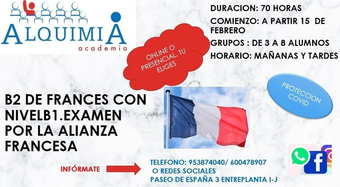 B2 DE FRANCES: NUESTRA OFERTA FORMATIVA de Alquimia
