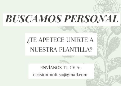 ¡ BUSCAMOS PERSONAL !