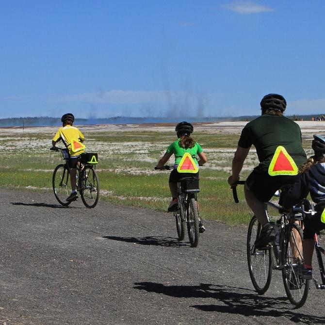 Practicar ciclismo en familia