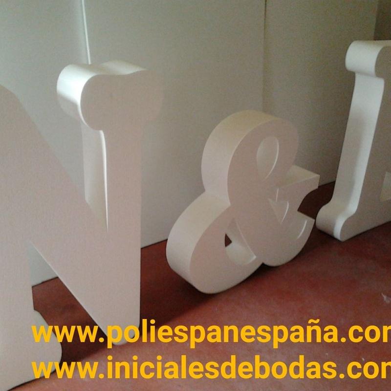 "Pack 3 LETRAS 3D desde 45,00 € con transporte + i.v.a  "" TODO INCLUIDO "" ( POLIESPAN DE ALTA DENSIDAD DURO )"