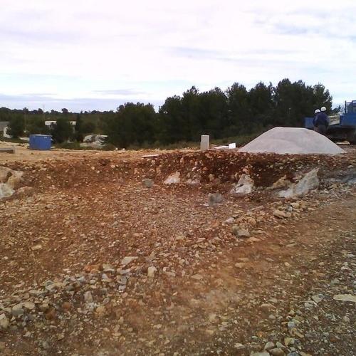Proceso de construcción. Marcado de la excavación