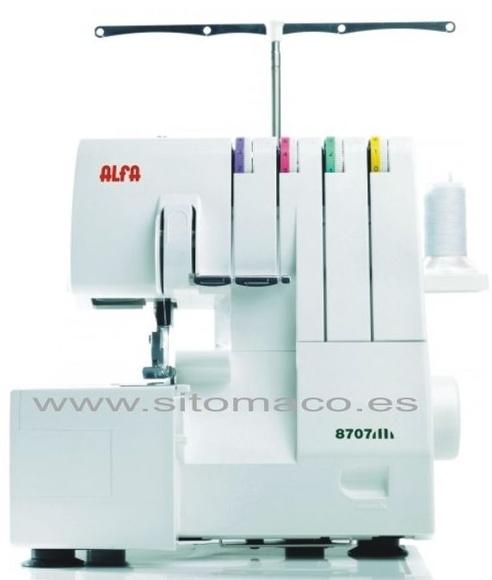 ALFA 8707 remalladora 4 hilos ( nuevo modelo): Catálogo de Sitomaco
