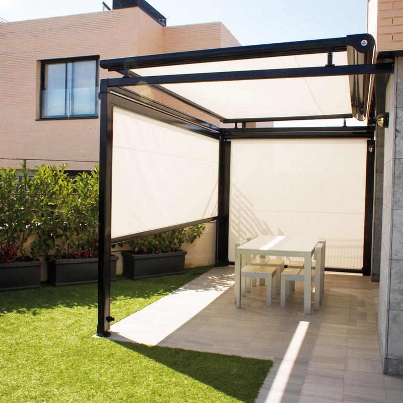 Toldo Veranda con toldos verticales