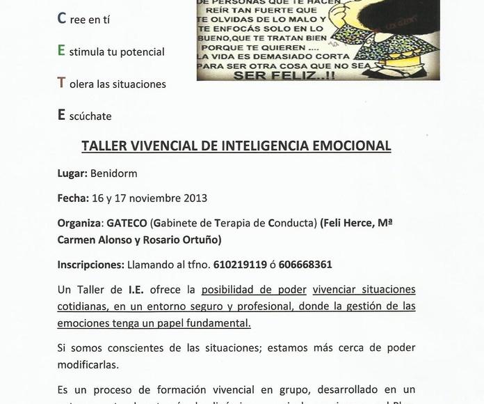 Créce T-Vivencial de Inteligencia Emocional: Especialidades de Psicóloga Rosario Ortuño