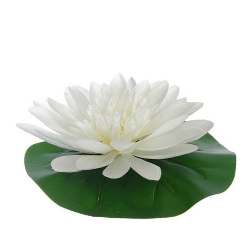 LOTUS FLOTANTE (12CM). COLOR:CREMA REF.:30918/CR PRECIO:1,50 €