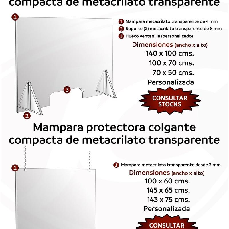 Ventanilla compacta de metacrilato transparente: Catálogo de Jesús Carrasco e Hijo
