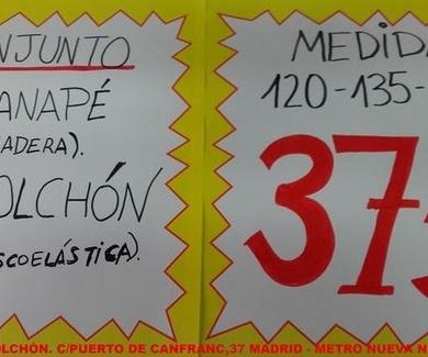PACKS CANAPE MAS COLCHÓN BARATOS EN MADRID