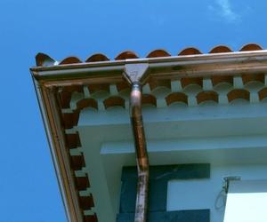Instalación de canalones de cobre en Tenerife
