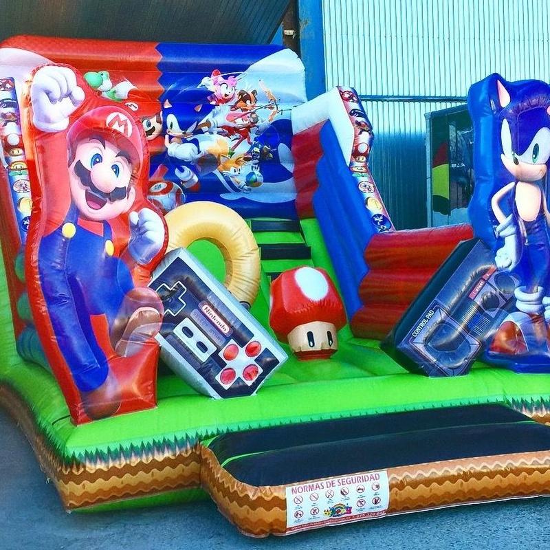 Castillo hinchable tobogán Sonic y Mario : Catálogo de Hinchables Happy Jump