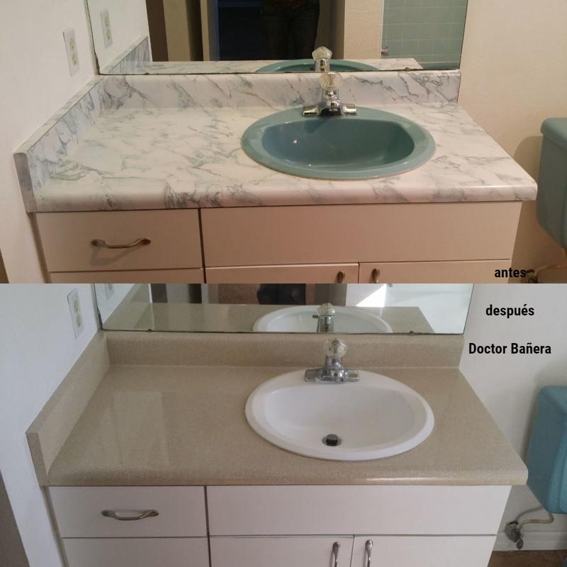 esmaltado de lavamanos y encimera