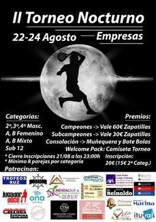 Patrocinamos el 2º Torneo de Pádel Nocturno de Estepona