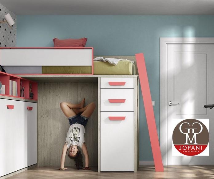 Dormitorio cama Doble juvenil, colores a elejir cliente.
