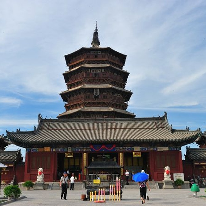 La resistencia de la torre de madera de Yingxian de Shanxi