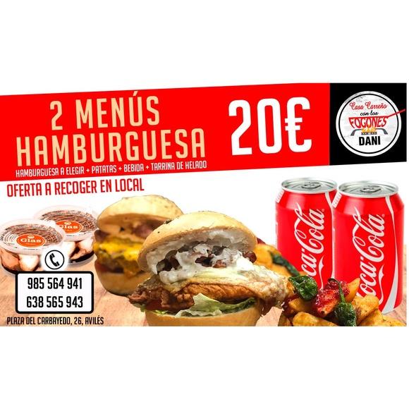 2 menús hamburguesa