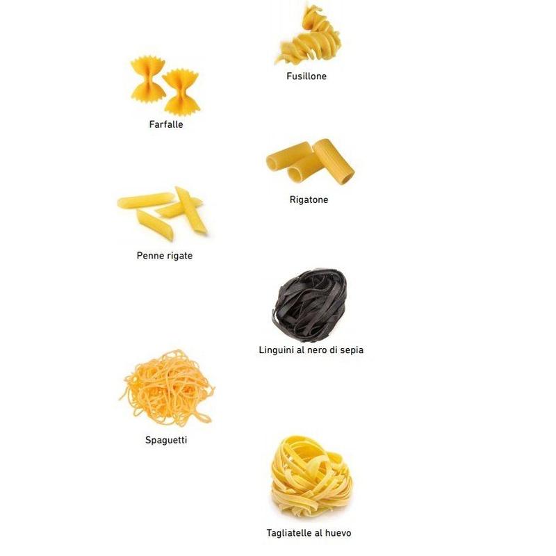 Pasta di grano duro y pasta fresca