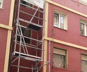 Reforma de fachada en C/ San Luis 12. Santander